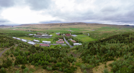 Reykholt, Borgarbyggð, Iceland-June10, 2018: Reykholt was the home of Snorri Sturluson, author, poet and more,  he died  in 1241