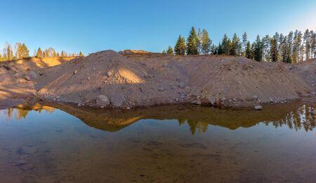 Sand pit in  ostergotland  Sweden 写真素材