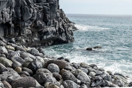Rocky beach on the island La Gomera in the Canary islands