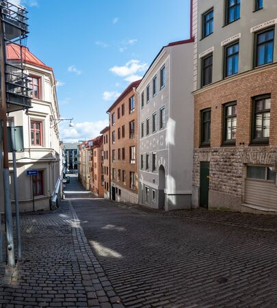 The streets of Gothenburg during the day