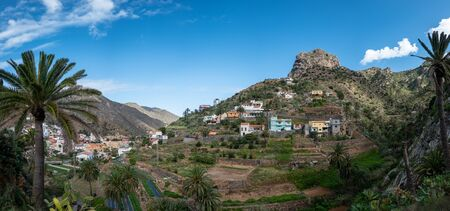 Some houses near Vallehermoso on   La Gomera 写真素材