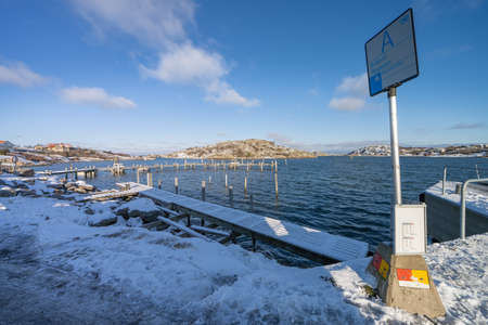 Branno in winter,  this island is part of Southern Goteborg Archipelago Stok Fotoğraf