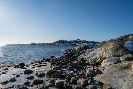 Vrango in winter,  this island is part of Southern Gothenburg Archipelago