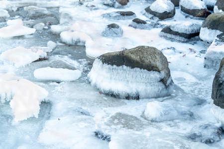 Winter on the swedish west coast and the Kattegat sea