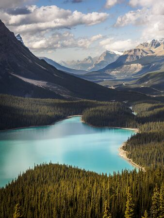 Clouds over Peyto Lake in Yoho National Park, Canada