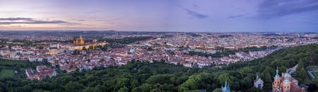 Panoramic view over the city of Prague, Czech Republic - smaller version