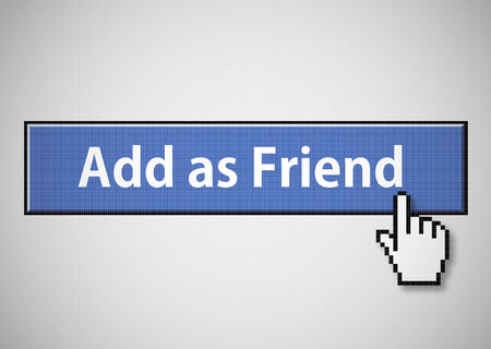 add as friend: Add as friend button Illustration