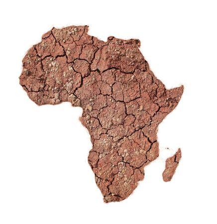 famine: The African continent made with dry soil
