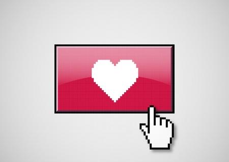 Heart button photo