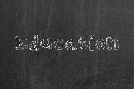 Education on blackboard photo