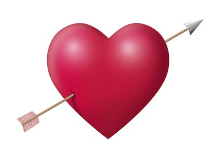 Big heart with arrow photo