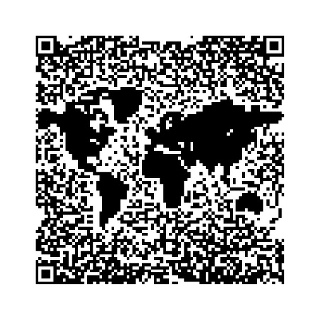 QR Code World Map Stock Photo - 8778900