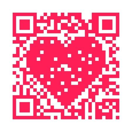 QR code heart photo