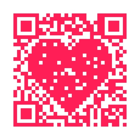 QR code heart Stock Photo - 8778901