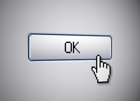 validation: OK button Stock Photo
