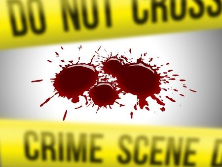 escena del crimen: Escena del crimen 2 Foto de archivo