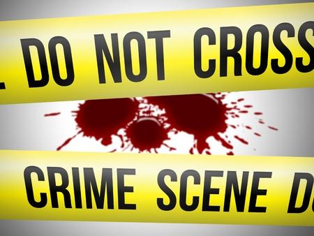 crime scene tape: Crime scene 3 Stock Photo