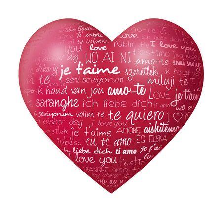 love words: International love Stock Photo