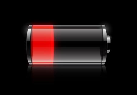bateria: Icono de bater�a baja Foto de archivo