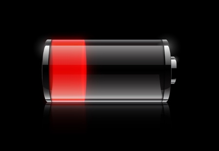 batteries: Low  battery icon