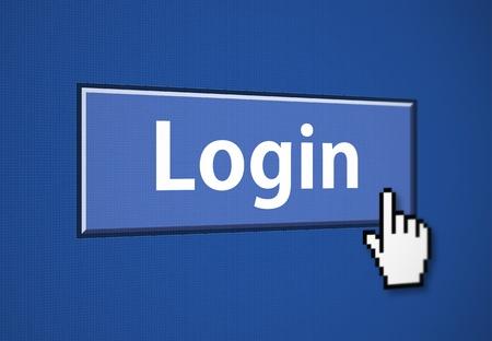 Login button Stock Photo - 8889292