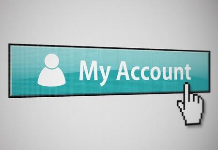 Mein Konto-button Standard-Bild