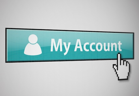 My account button Stock Photo