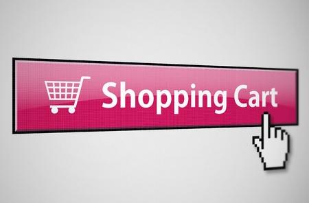 agregar: Bot�n de tarjeta de compras Foto de archivo