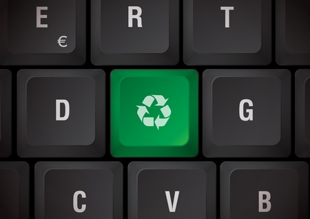 Black keyboard recycling touch photo