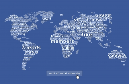The world of social networking 2 Stock Photo - 8889306