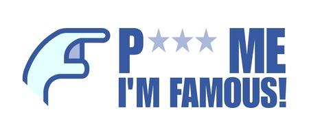 me: poke me Im famous Stock Photo
