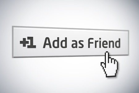 Add as Friend button 2 Stock Photo - 8975434