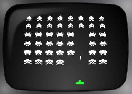 em: Space invaders Stock Photo