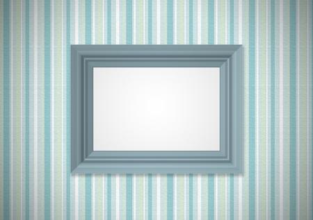 Green wallpaper with empty framework photo