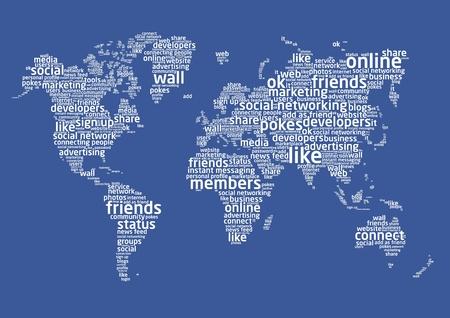 social networking: Il mondo del social networking Vettoriali