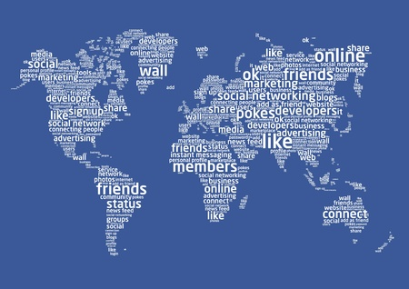The world of social networking Vector