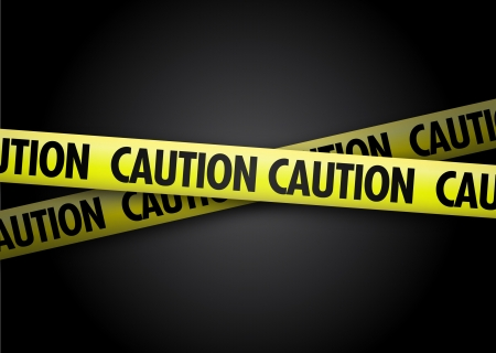 tape line: Caution yellow tape