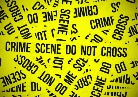 crimes: Crime scene do not cross Illustration