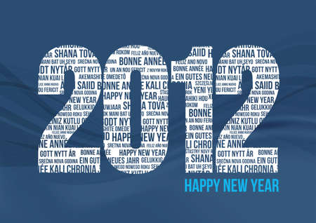 Happy New Year 2012 - Blue Stock Vector - 9765061