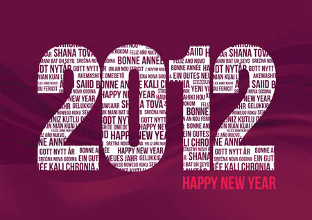 Happy New Year 2012 - Red Stock Vector - 9764636