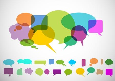 dialogue: speech bubbles