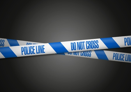 police tape: England Police Line Do Not Cross Illustration
