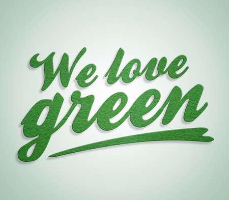 We love green photo