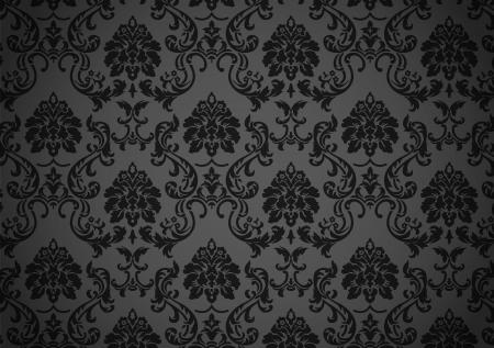 어두워: 어두운 바로크 벽지 일러스트