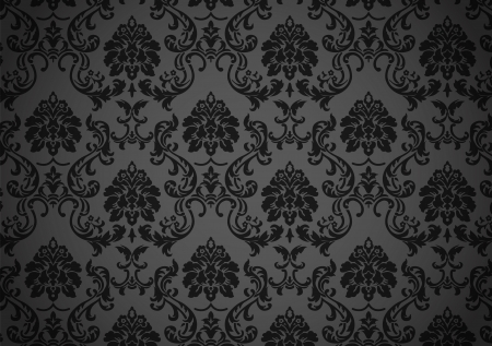 black textured background: Dark baroque wallpaper