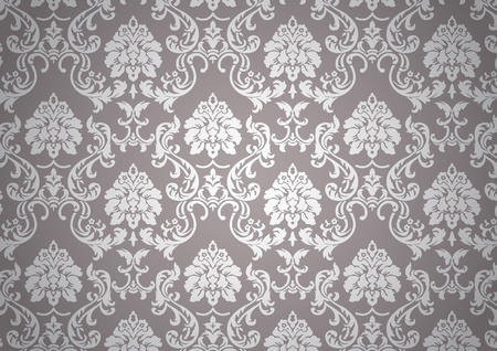 antiek behang: Luminous barok behang