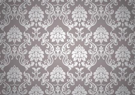 baroque: Papel tapiz barroco luminoso Vectores