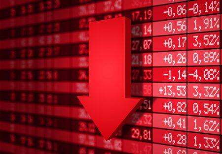 bolsa de valores: Foto de mercado a la baja