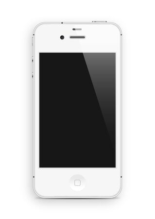 telephony: white cell phone