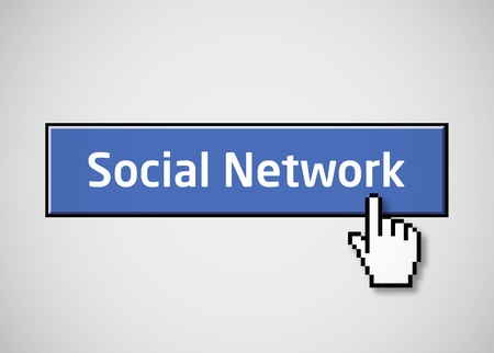 socializing: Social network button